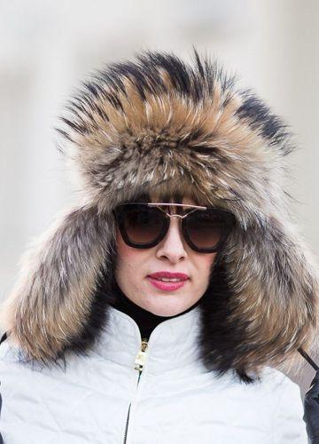 91a3c73d766 Genuine Raccoon Dog Fur Trapper Hat