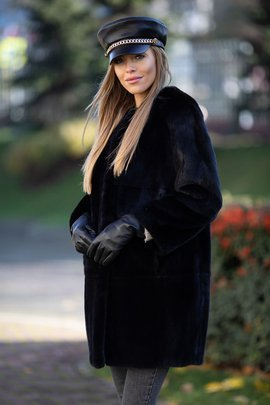Genuine Mink Fur Coat
