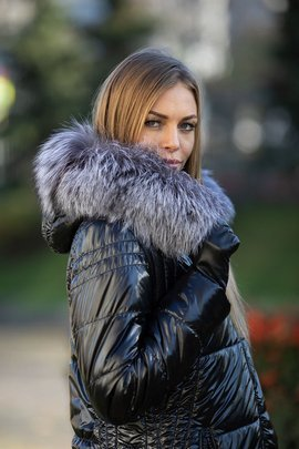 Genuine Raccoon Dog Fur Hood Band