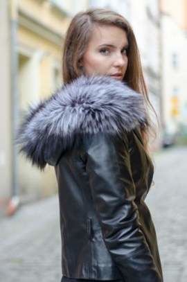 Genuine Silver Fox Fur Hood Band