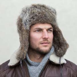 Man's Genuine Fur Trapper Hat