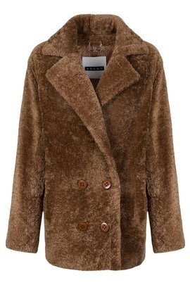 Woman's Genuine Sheepskin Coat – Heather Colour
