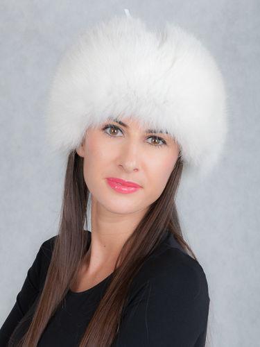 51859743734 Genuine White Fox Fur Trapper Hat ...