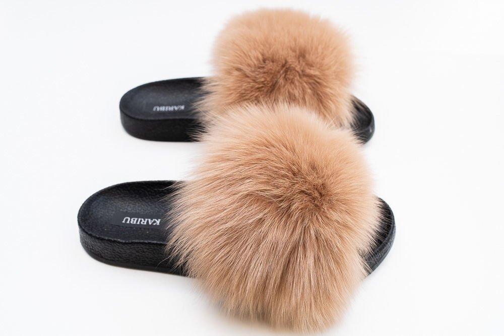 Genuine Fox Fur | FUR SLIDES