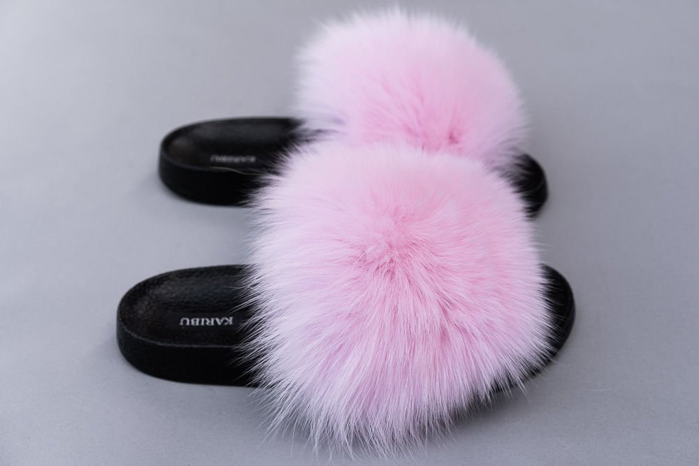 Genuine Fox Fur   FUR SLIDES