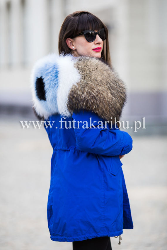 Customized Natural Fox Fur Collar For Hood