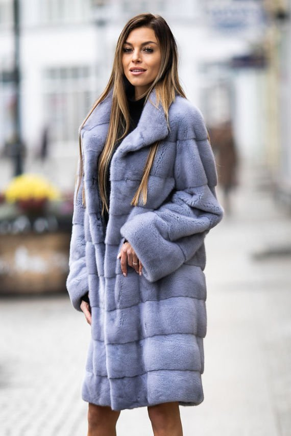 Ladies Genuine Mink Fur coat