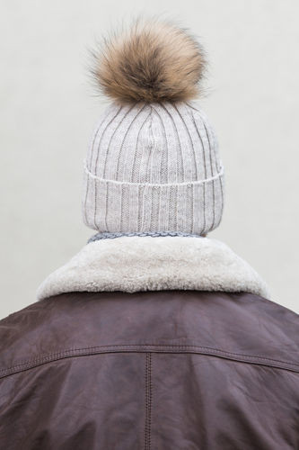 ALPACA AND VIRGIN WOOL BEANIE HAT WITH GENUINE RACCOON FUR POM POM