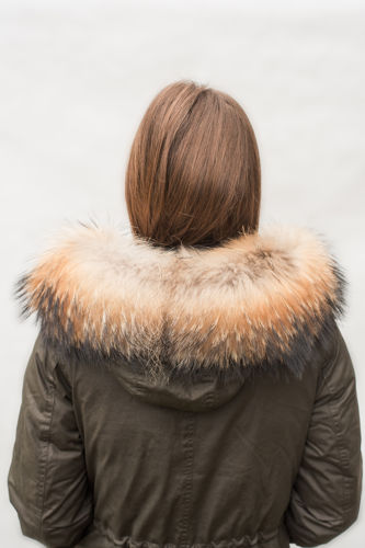 Customized Raccoon Fur Collar For Hood