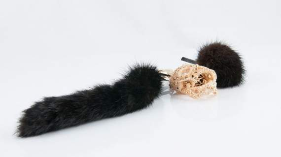 Genuine Mink Fur Pendant