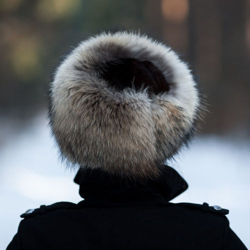 Genuine Raccoon Fur Roller Hat