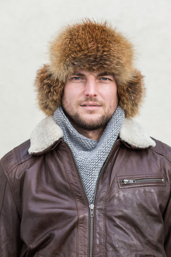 Genuine Red Fox Fur Trapper Hat