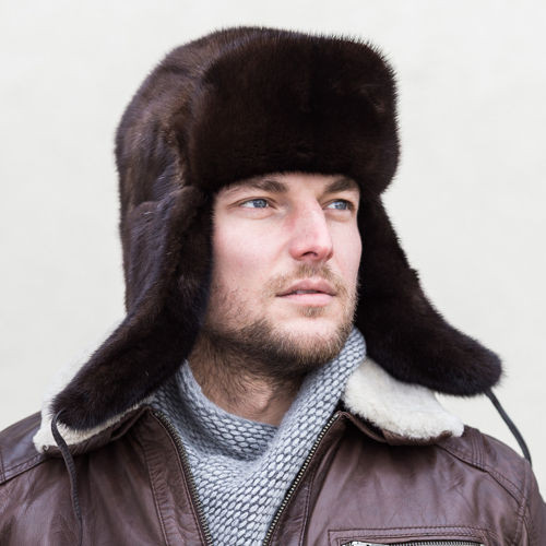 Man's Genuine Mink Fur Hat