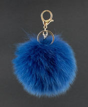 Genuine Mink Fur Pendant in Brown